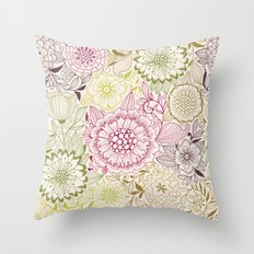 Floral Pattern #47 Throw Pillow