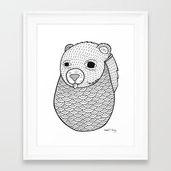 Mr. Rupel's Most Ingenuous Beard for Bears  Framed Art Print