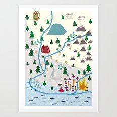 summer camp Art Print
