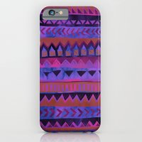 iPhone & iPod Case featuring PATTERN {Tribal Stripe- Purple} by Schatzi Brown