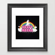 HEAVY METAL! (Funny Unic… Framed Art Print