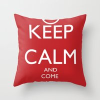 Maybe, Don't Keep Calm Throw Pillow