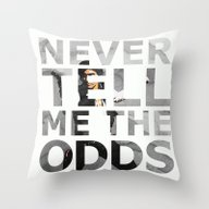 Throw Pillow featuring Star Wars Han Solo Quote by Foreverwars