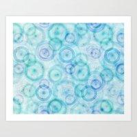 Spirograph Pattern Art Print