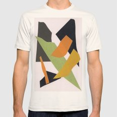 Abstract multicolor ing Mens Fitted Tee Natural SMALL