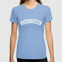Tasty Jawn Womens Fitted Tee Tri-Blue SMALL