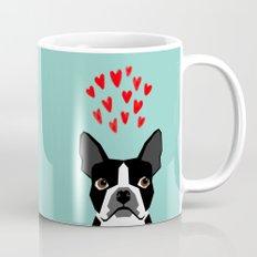 Boston Terrier - Hearts, Cute Funny Dog Cute Valentines Dog, Pet, Cute, Animal, Dog Love,  Mug