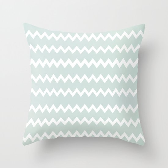 Wedgewood Blue Throw Pillows : Wedgewood Blue Winter Chevron Design Throw Pillow by Secretgardenphotography [Nicola] Society6