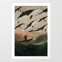 Minke Whale Migration Art Print