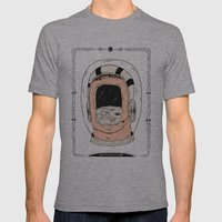 From the Earth to the Moon Mens Fitted Tee Athletic Grey SMALL