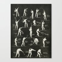 gentlemen prefer tennis Canvas Print