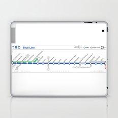 Twin Cities METRO Blue Line Map Laptop & iPad Skin
