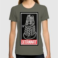 EXTERMINATE  |  Dalek  |… Womens Fitted Tee Lieutenant SMALL