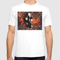 Ancient Skull By Annie Z… Mens Fitted Tee White SMALL