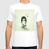 Pug is my best friend Mens Fitted Tee White SMALL
