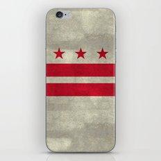 Washington D.C flag with worn stone marbled patina iPhone & iPod Skin