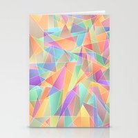 The Geometric Glass Shat… Stationery Cards