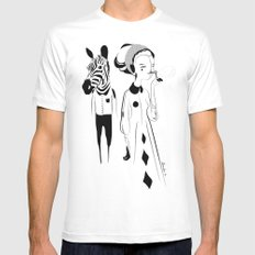 Breathe me - Emilie Record SMALL Mens Fitted Tee White
