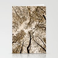 Sepia Fall Stationery Cards