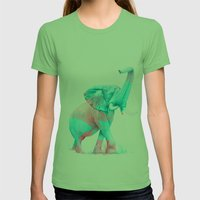 Elephant Womens Fitted Tee Grass SMALL