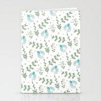 Fun Summer Flower Pattern Stationery Cards