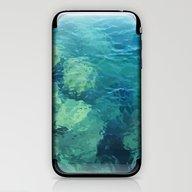 Beau Aqua iPhone & iPod Skin