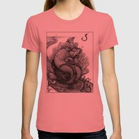 Fishkey Womens Fitted Tee Pomegranate SMALL