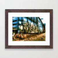 RUSTY RAIL Framed Art Print