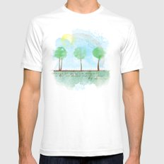 Always it's spring White Mens Fitted Tee SMALL