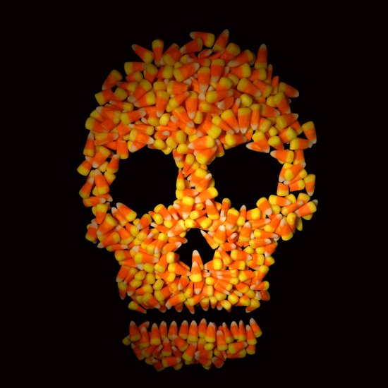 Candy Corn Skull Art Print