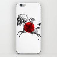 iPhone & iPod Skin featuring Love Is A Mad Horse by Tintorera