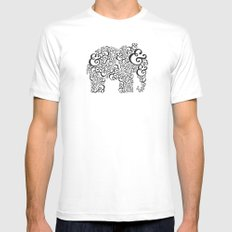Ampersand Elephant White Mens Fitted Tee SMALL