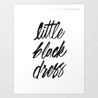 Little Black Dress Art Print