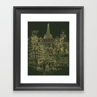 Paris! Olive Framed Art Print