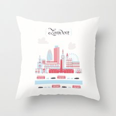 London upperground Throw Pillow
