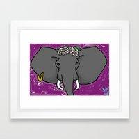 A Purple Elephant Framed Art Print