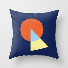 Triangle and circle Throw Pillow