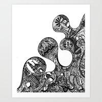 The Desi Art Print