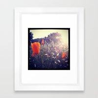 Sunset Orange Framed Art Print