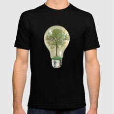 green ideas SMALL Mens Fitted Tee Black