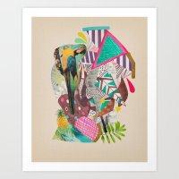TROPICANA MACAW  Art Print