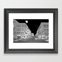 Night Walk Framed Art Print