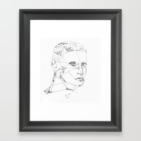The Lines And Tissues Th… Framed Art Print