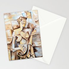 Girl with Mandolin- Tribute to Picasso Stationery Cards