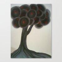 Krishnachura tree Canvas Print