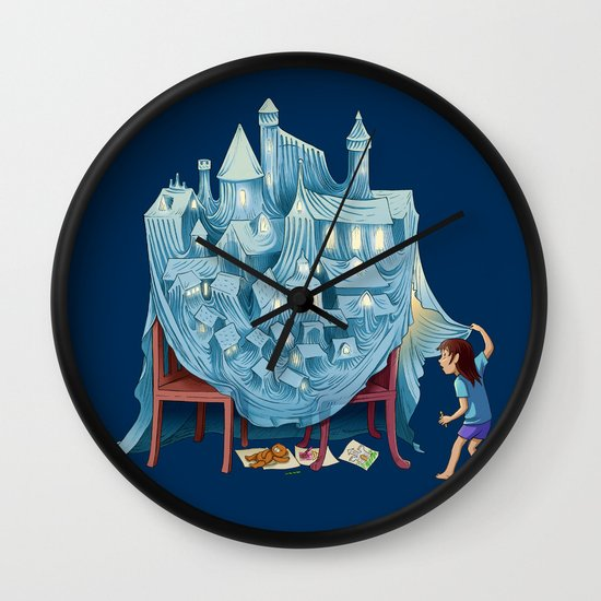 The Perfect Chair Fort Wall Clock