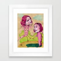 UP AND DOWN FRIENDS Framed Art Print