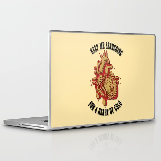 """Heart of Gold""  (""ANALOG zine"") Laptop & iPad Skin"