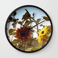 Red Sunflower... Wall Clock