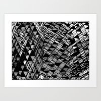 Moving Panes Black & Whi… Art Print